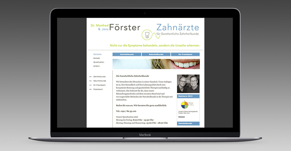 Arzt Website Typo3 Hannover